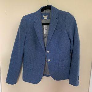 NWT J Crew Tweed Blazer - Blue